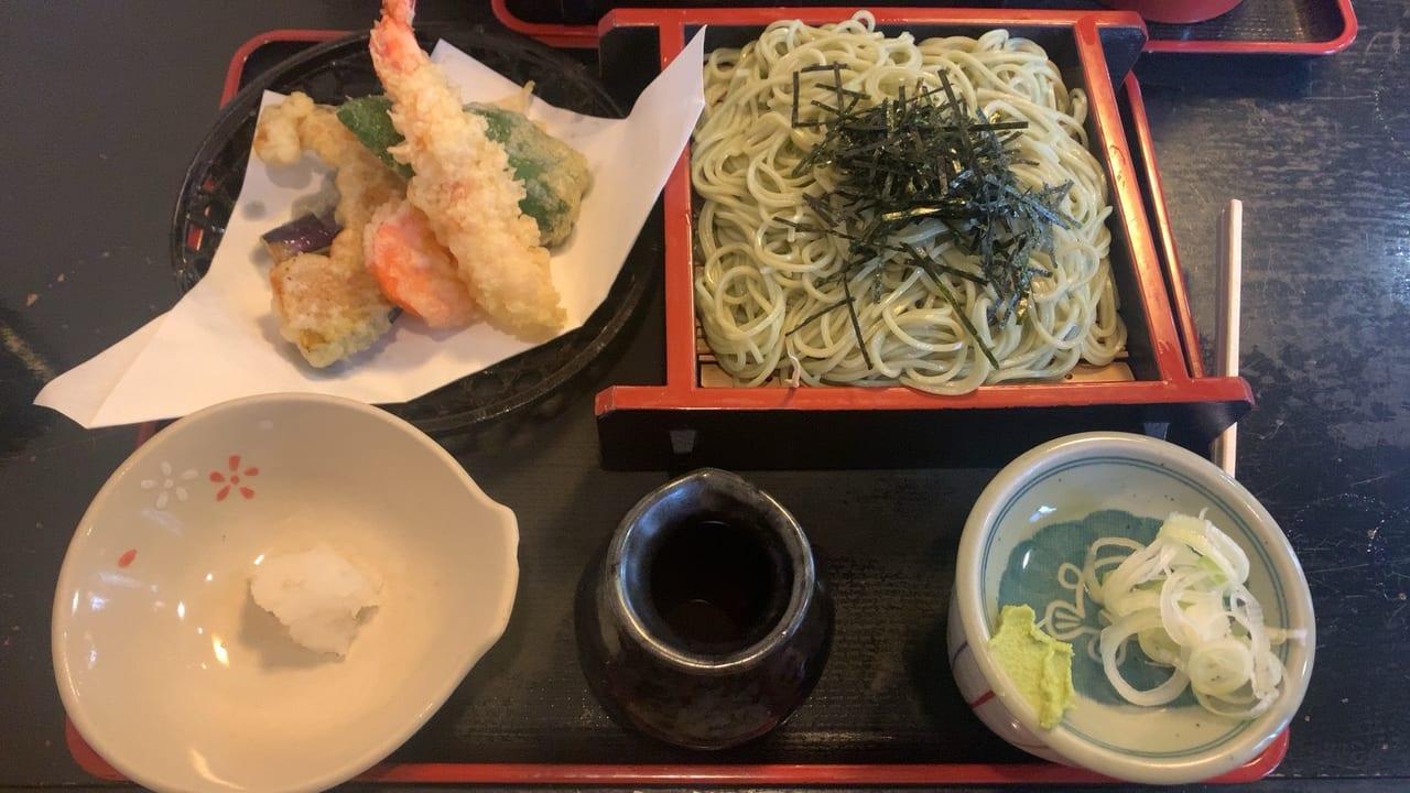 深大寺門前蕎麦本舗の天ぷら蕎麦